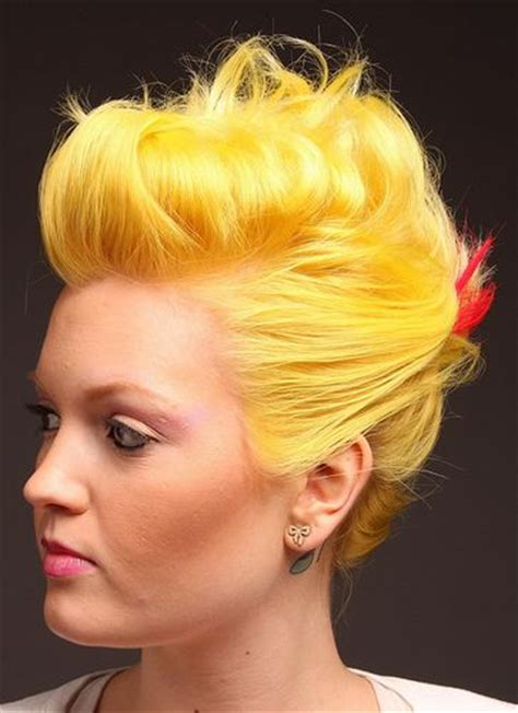 Silver is one color which a lot of women can go for. Bright Yellow Hair - 7 unique color inspiration photos ...