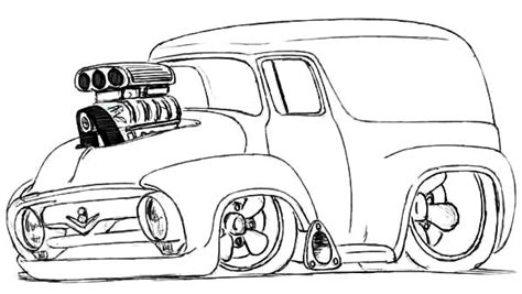 Kleurplaat Hotrod by Modified Chevy Cars Coloring Pages Best Place To Color