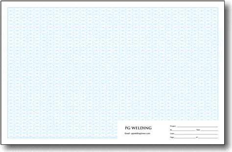 personalized isometric grid pads tabloid size  scale