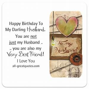 Free Birthday Cards For Husband | Happy Birthday To My ...
