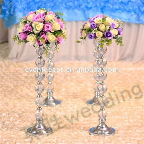 newest product tall acrylic flower stands wedding