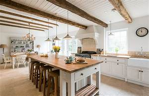 Rustic ceiling ideas kitchen farmhouse with exposed beams