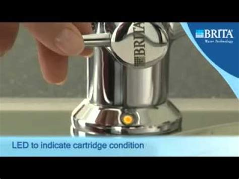 brita faucet filter light not working brita 3 way titanium water filter tap youtube
