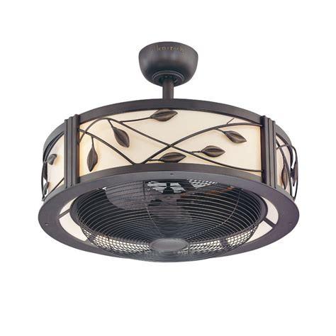 ceiling fans at lowes hardware shop allen roth eastview 23 in aged bronze downrod mount