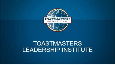 st december  toastmasters leadership institute