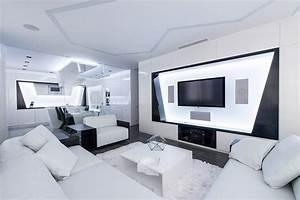 Futuristic Axioma Apartment In Black And White By