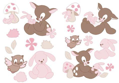 stickers ours chambre bébé nattou stickers faon rosy doudouplanet