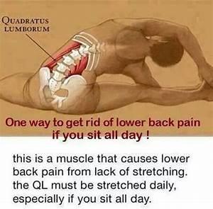 Lower back stretch | Health & Fitness | Pinterest