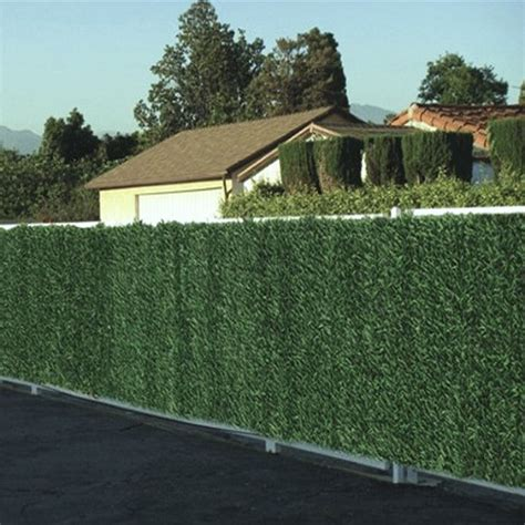 green garden fence artificial faux conifer hedge garden fence privacy 1374