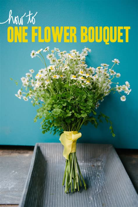 How To: Make A Minimal Wedding Bouquet