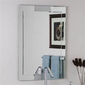 Decor wonderland ssm526 francisca large frameless wall for Kitchen cabinets lowes with wall decor mirrors art