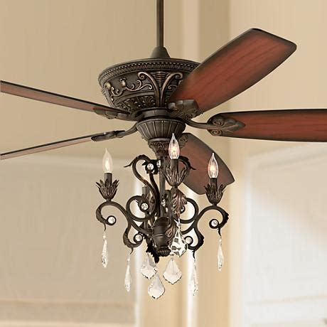 ceiling fan with chandelier light 60 quot casa montego bronze chandelier ceiling fan 56358