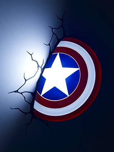 3d light fx marvel captain america shield 3d deco led wall import it all