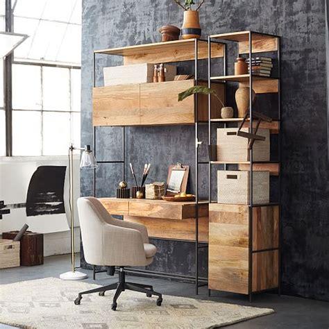 west elm industrial desk industrial modular 49 quot desk west elm