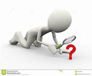 3d Person Question Mark Searching Stock Illustration ...