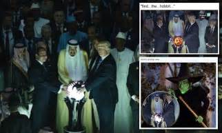 Orb Globe Saudi Trump Meme