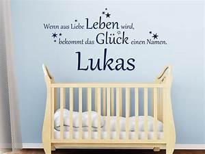 Wandtattoo Name Kind : baby wandtattoo das gl ck mit wunschname von ~ Sanjose-hotels-ca.com Haus und Dekorationen
