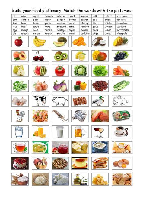 food  drinks interactive worksheet