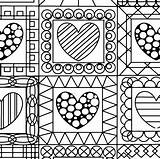 Coloring Pages Quilt Printable Getcolorings Printables sketch template