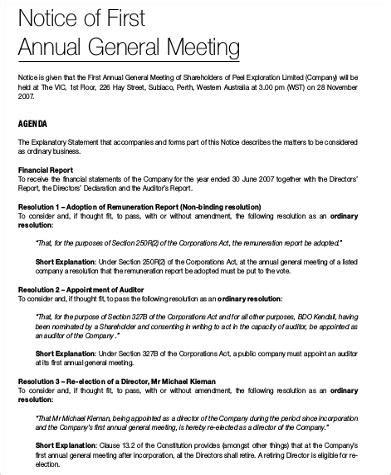 agenda format samples  ms word