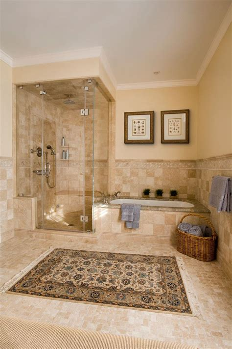 master bathroom remodeling ideas tile around standing tub bathroom traditional with wall