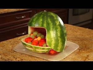 How To Carve A Watermelon Football Helmet - YouTube