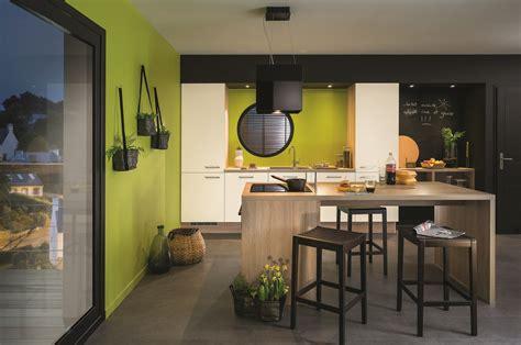 cuisine espace ilot de cuisine et espace de repas 2 en 1 diaporama photo