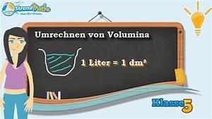 Wieviel Liter Hat Eine Badewanne : volumen umrechnen liter klasse 5 wissen youtube ~ Lizthompson.info Haus und Dekorationen