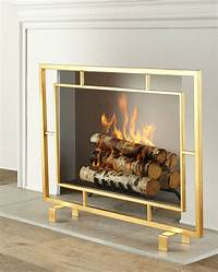 modern fireplace screens Light Up Your Fire With These Modern Fireplace Tools