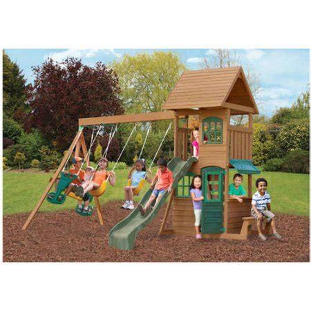 Big Backyard Swing Sets by Big Backyard Windale Wooden Swing Set Walmart
