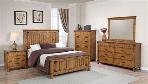 Coaster Brenner Bedroom Set Rustic Honey 205261 Bedroom