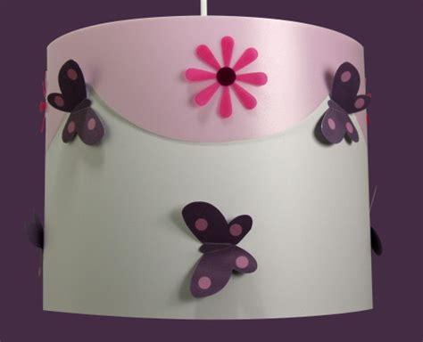 decoration chambre fille pas cher luminaire enfant papillons violine et fabrique