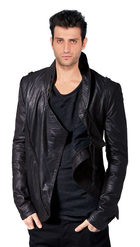 draped leather jacket buy waterfall style draped mens leather jackets