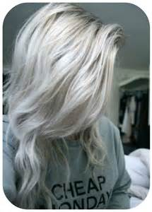 Grey Blonde Hair with Platinum Highlights