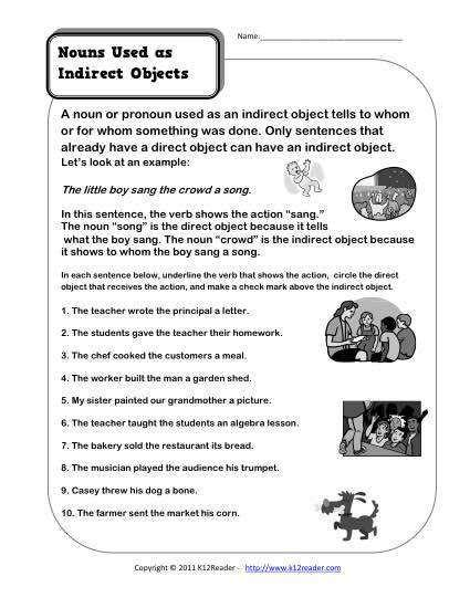 direct and indirect objects worksheets homeschooldressage