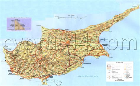 north cyprus map cyprus  north cyprus guide