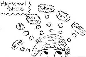 High School Stress Cartoon