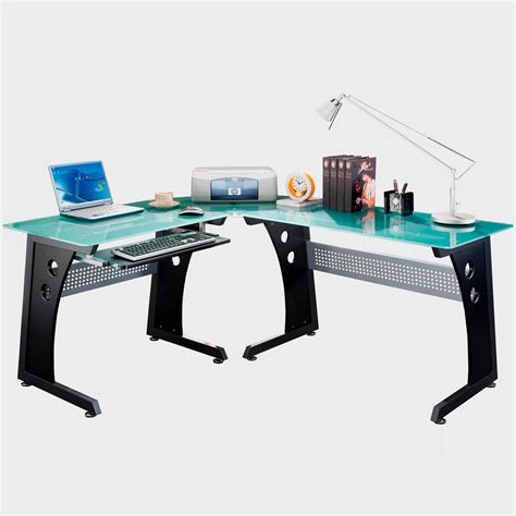 modern computer desk l shaped glass l shaped computer desk thediapercake home