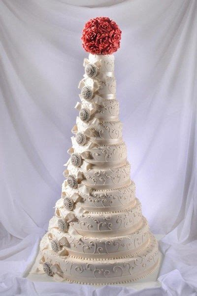 tier brooch wedding cake captivating cakes