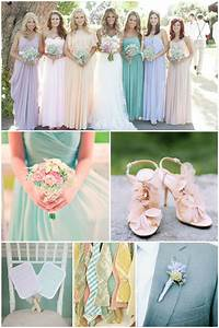 47 inspiring ideas in pretty pastels for spring weddings With pastel color dress for wedding