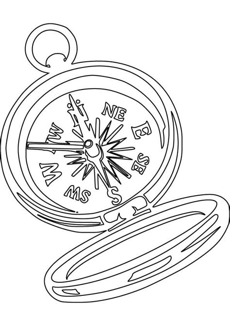 compass coloring picture   early american history