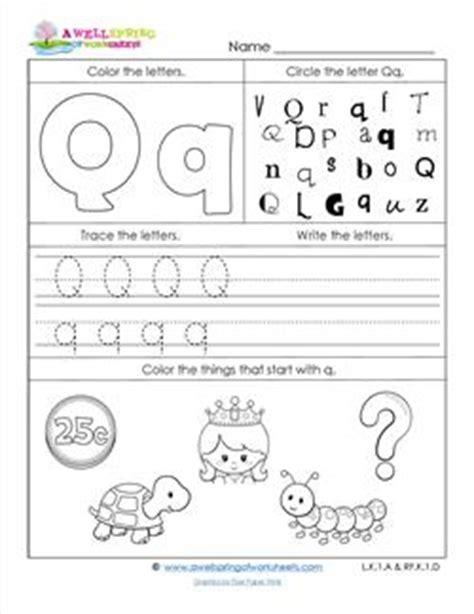 Abc Worksheets  Letter Q  Alphabet Worksheets  A Wellspring
