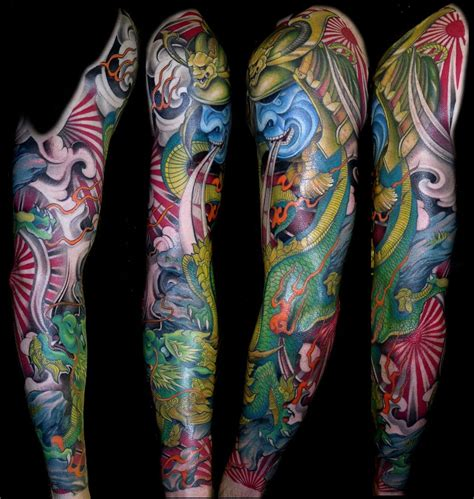 dragon dog sleeve dragon tattoos japanese sleeve tattoos tattoos sleeve tattoos