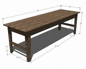Ana White Narrow Farmhouse Table - DIY Projects