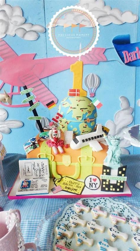 travel themed party ideas supplies idea cake decorations