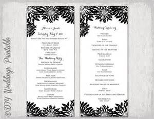 brunch invitation wording printable wedding program template black white
