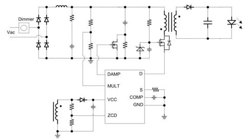 Electrical Circuit Diagram For Typical Scr Based Light