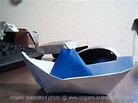 How To Make A Boat From A Napkin by Origami Boat Photos