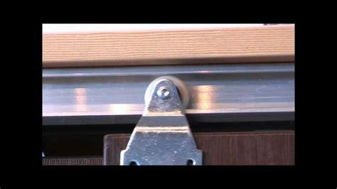 horus top hung sliding door gear track for walk