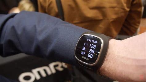 omron wrist bpm smartwatch takes blood pressure